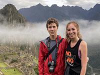 Matt Payne and Gracie Willaert at Machu Picchu