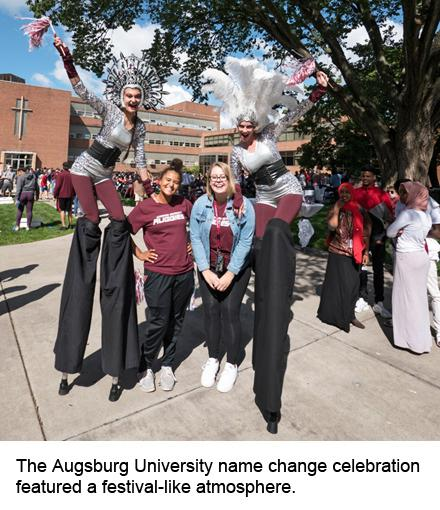 Augsburg name change celebration