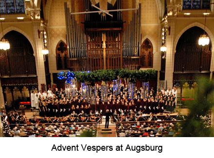 advent vespers at Augsburg