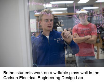 Bethel electrical engineering students