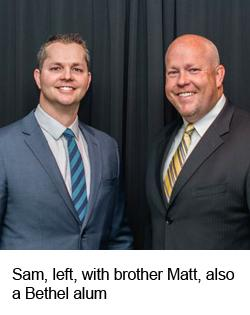 Sam Lacy with brother Matt