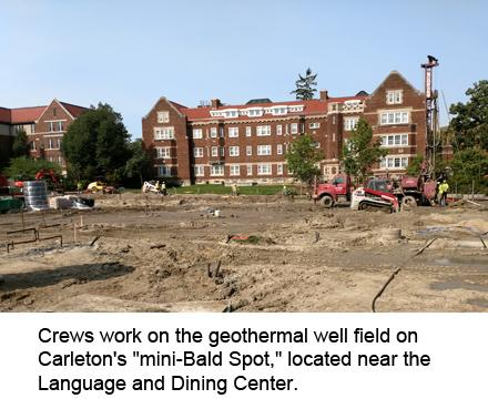 geothermal well work at Carleton