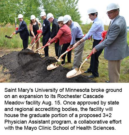 Saint Mary's University of Minnesota groundbreaking