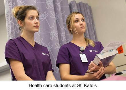 St. Kate health care students