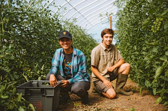 students in St. Olaf's farm-to-table operation