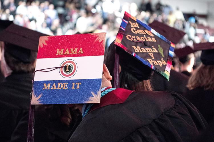 Some Auggies decorated their grad caps to dedicate their graduation milestone to their parents.