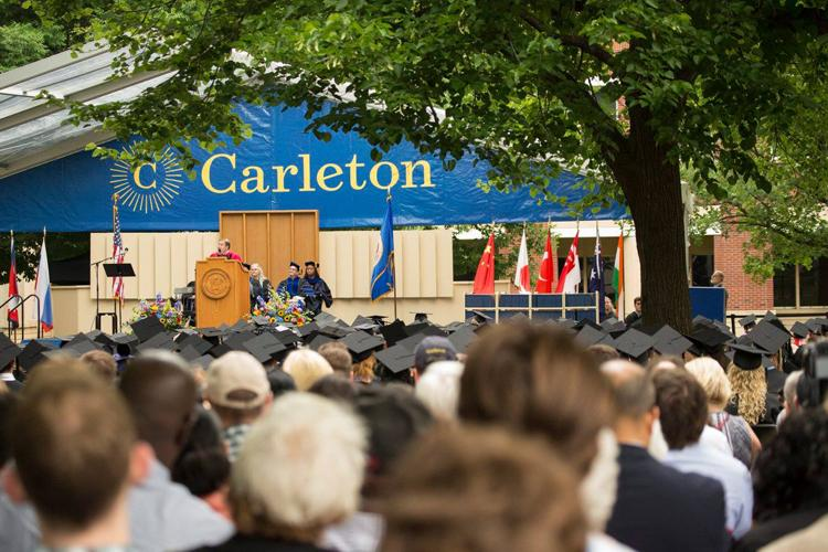 Carleton College in Northfield celebrated its 144th commencement June 9, 2018, awarding 488 Bachelor of Arts degrees to the class of 2018.