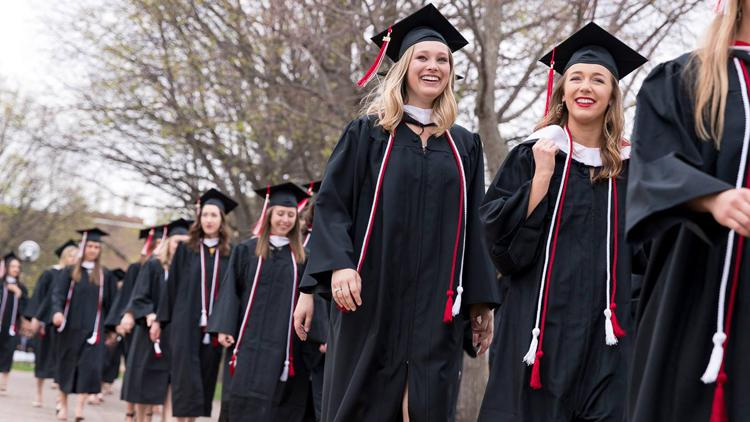 The 2018 College of Saint Benedict graduating class included 505 women, the third-largest class in school history.