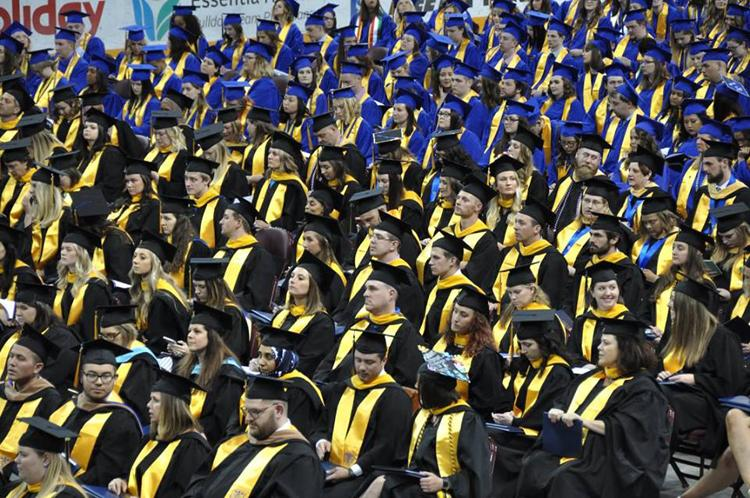 The College of St. Scholastica's commencement ceremony